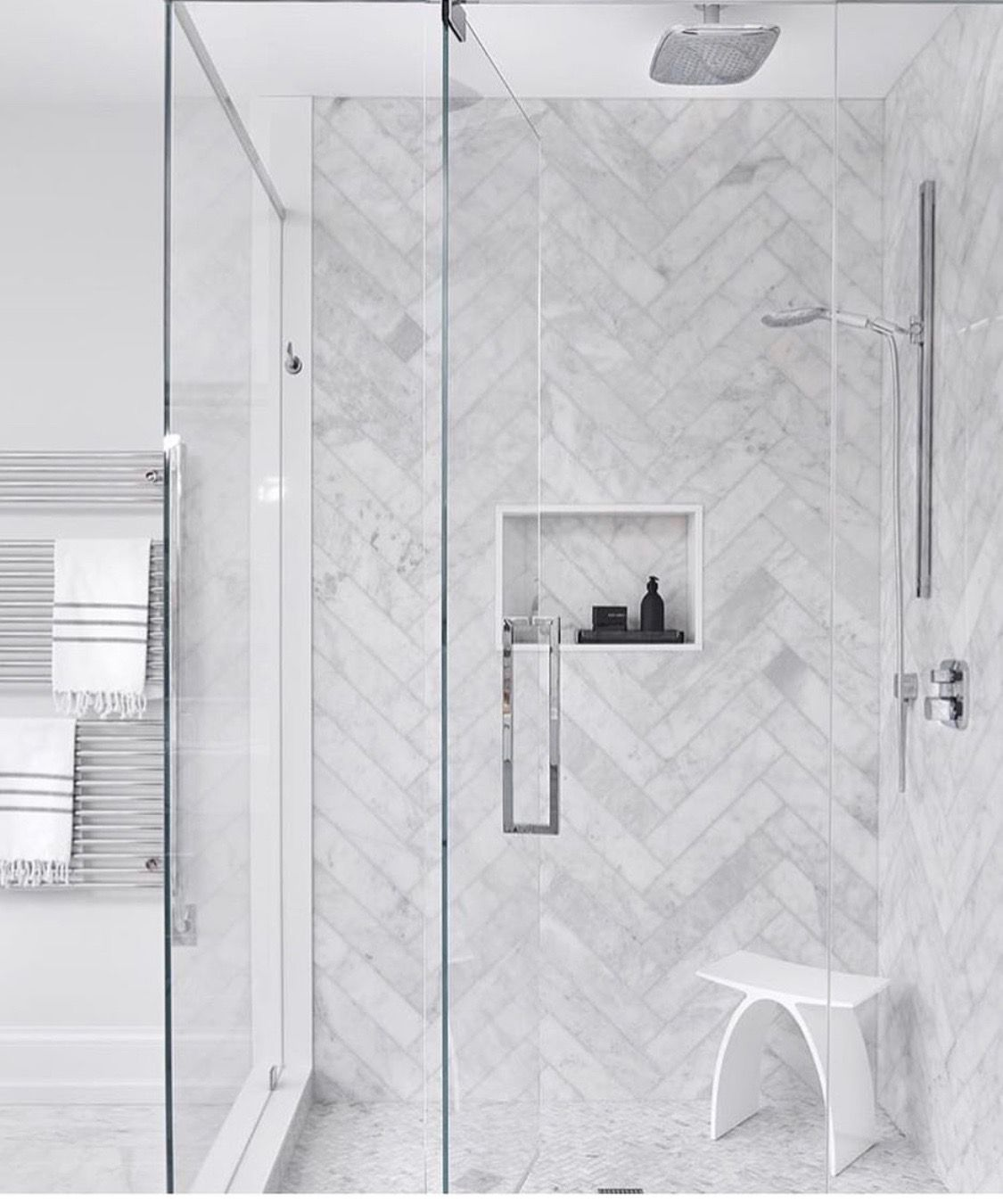 Large Herringbone Shower Small Herringbone Floor Bathroom Remodel Shower Herringbone Tile Bathroom Shower Backsplash