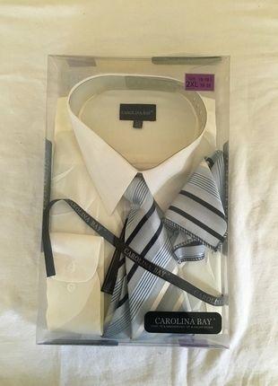 e981c5942ff Carolina Bay Dress Shirt W  Tie and Handkerchief