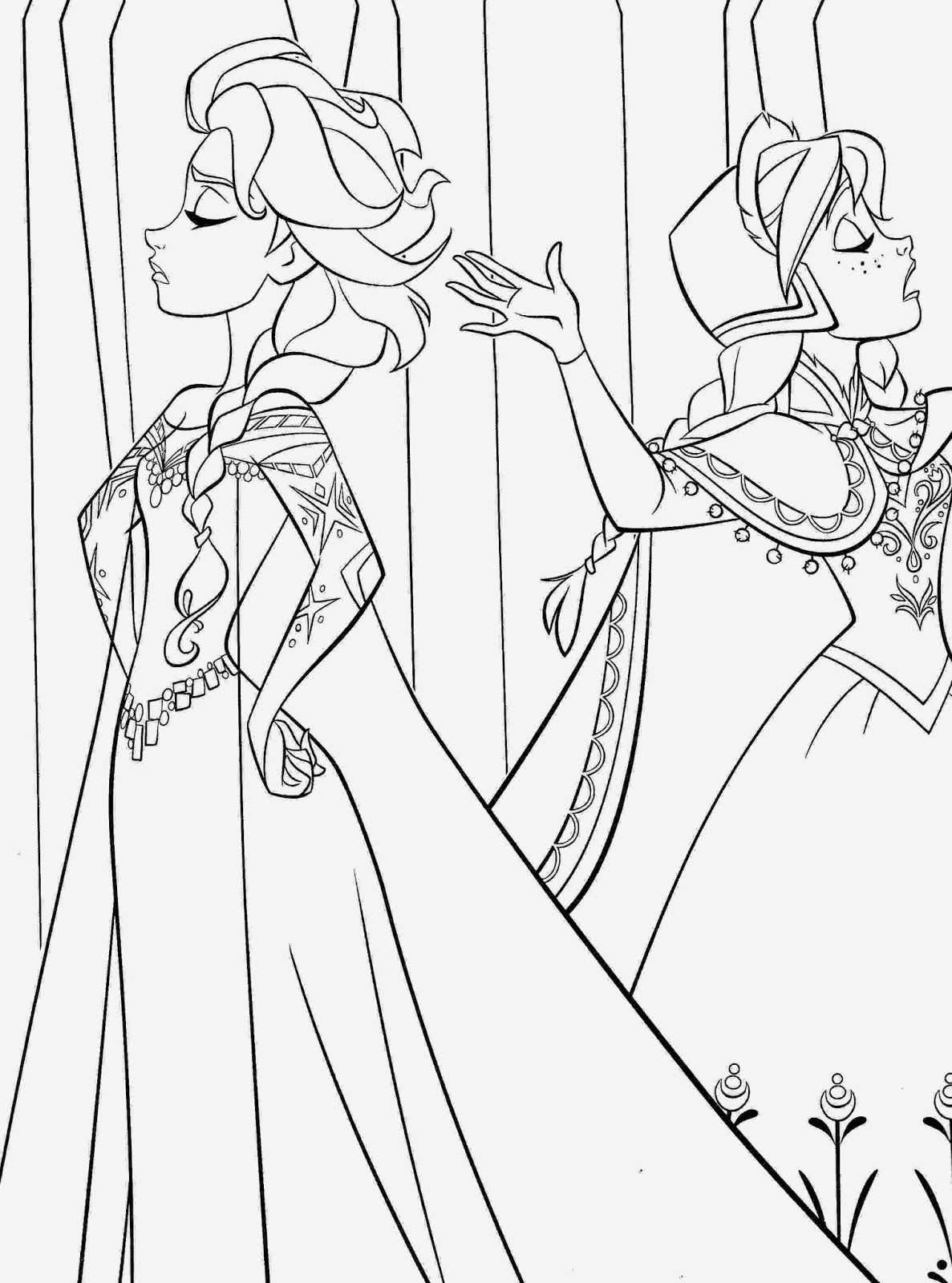 frozen printable coloring pages - Frozen Printable Coloring Pages