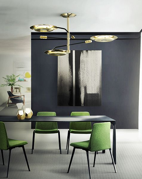 Hendrix Midcentury Modern Suspension Lamp | DelightFULL