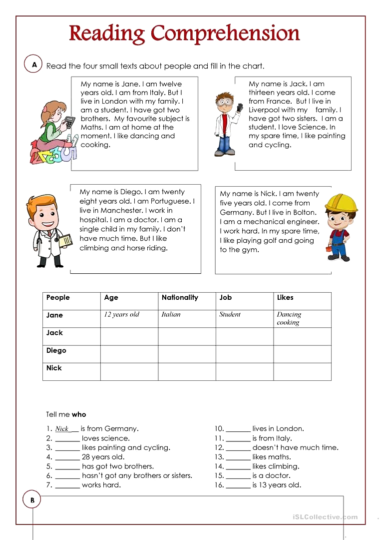 An Activity To Practice Reading And Comprehension There Are Four Free Reading Comprehension Worksheets Reading Comprehension Reading Comprehension Worksheets [ 1079 x 763 Pixel ]
