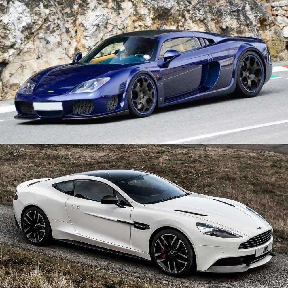 Top: Noble M600 Bottom: Aston Martin Vanquish