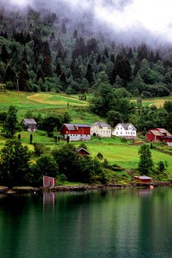 allthingseurope:  In the Hardagenfjord, Norway (by sanguedolces)