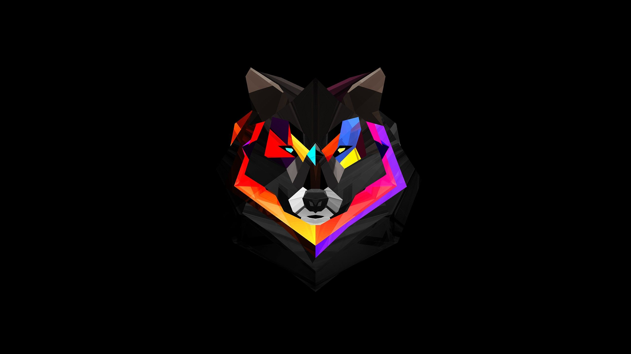 Abstract Animals Digital Art Justin Maller Black Background Wolves Wallpaper 2940341 Wallbase Cc Polygon Art Iphone 5s Wallpaper Wolf Wallpaper