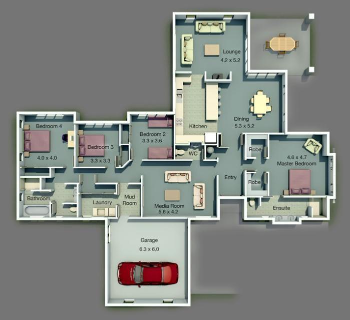 rachel floor plan - Rachel Home Plans