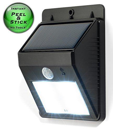 Amazon Com Solar Powered Light Motion Detector Night Sensor Led Outdoor Wireless Security Weatherproo Light Sensor Solar Powered Led Lights Security Lights