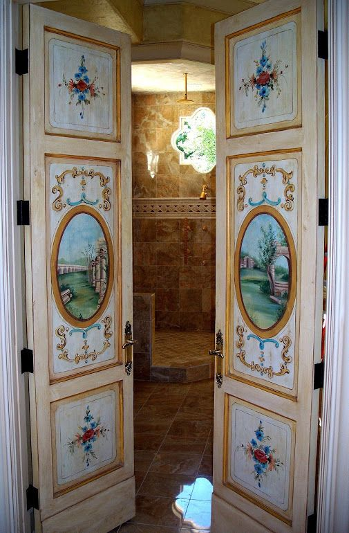 Hand Painted Doors We Made For A Luxury European Style House Doors