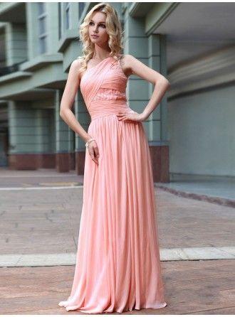 chiffon 1schulter rosa abiballkleider abendkleider günstig ausa0259698  kadın