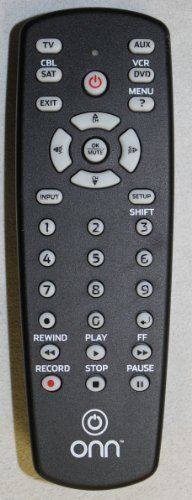 ONN Universal Remote Control 4 Devices For DVD RECEIVER TV