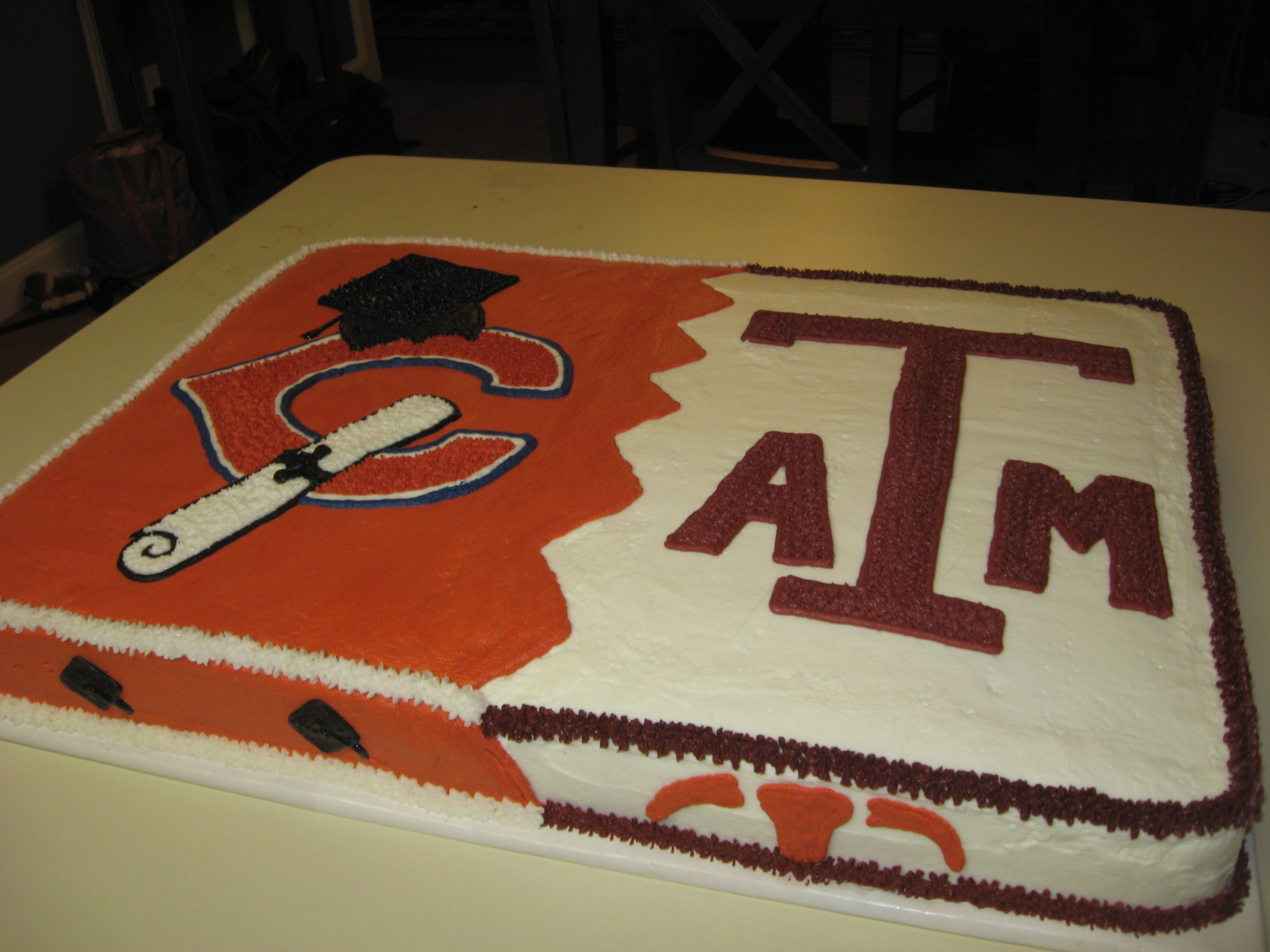 College Graduation Cake Images : high school to college graduation cake Sweet Expression ...