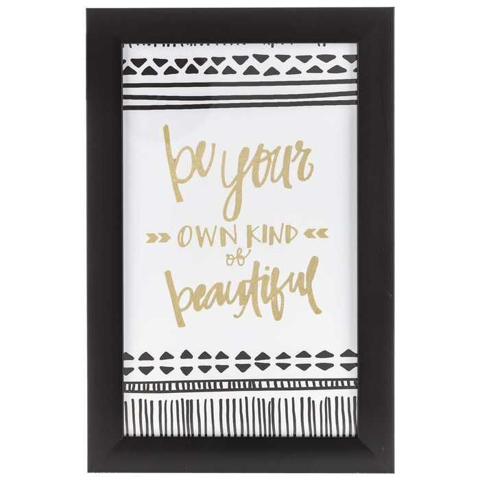 Get Be Your Own Kind of Beautiful Framed Art online or find other ...