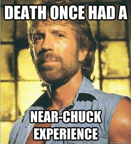 death 39 s near experience with chuck norris action figures pinterest. Black Bedroom Furniture Sets. Home Design Ideas