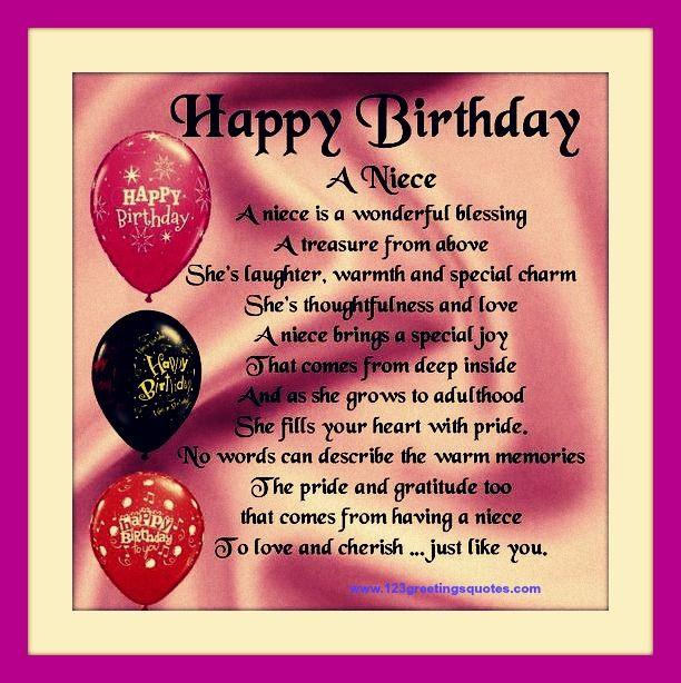 Happy Birthday Quotes For Niece Birthday Quotes Pinterest Quotes Wishing Happy Birthday