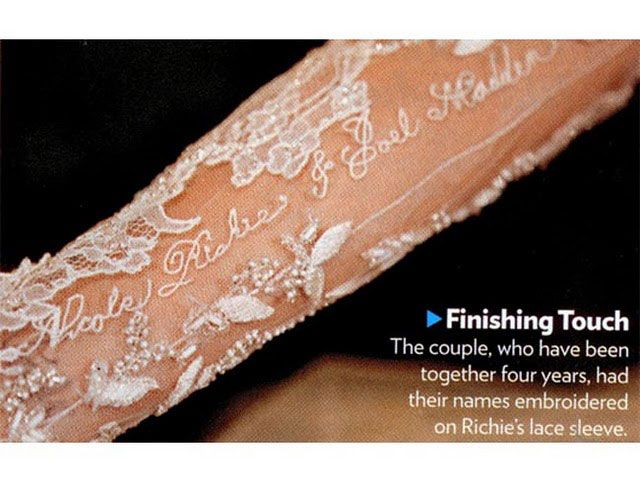 Nicole Richie Wedding Dress Embroidery So Cute On My Veil