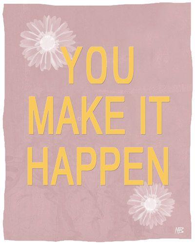 Motivational words wall decor art print inspiring by HoneyBoo ...