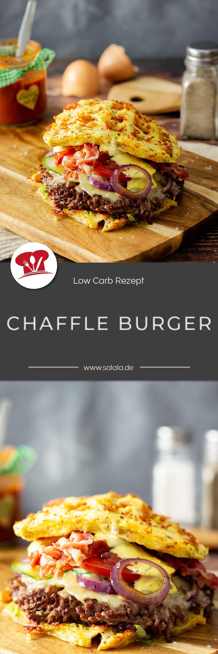 Keto Chaffle Burger mit Smashburger