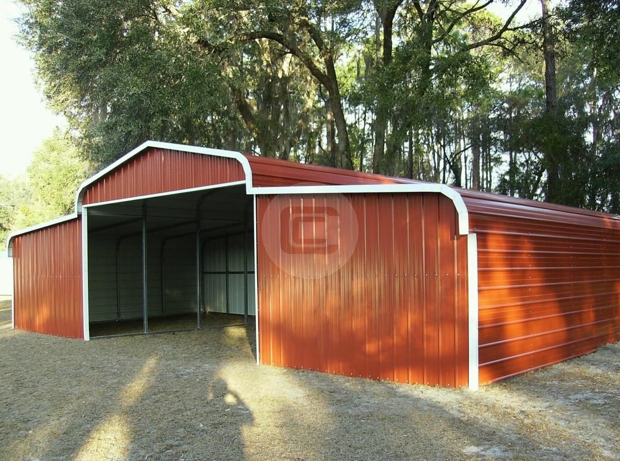 42x21 Horse Barn Regular Roof Style Enclosed Barn Building Horse Barn Metal Horse Barns Equestrian Building