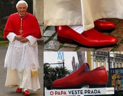 the pope wears prada shoes