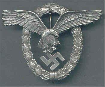 German Luftwaffe Pilots Badge
