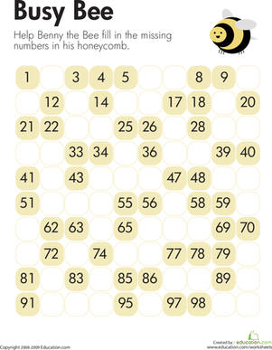 Missing Numbers: Counting Bee | Math worksheets, Kid and First ...
