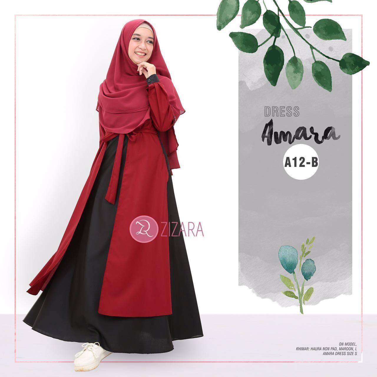 Gamis Zizara Amara Dress A12 B - baju muslimah busana muslim Kini hadir  untukmu yang cantik 2d2cf428c2