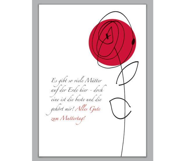 rosen blumengruß klappkarte zum muttertag - http://www