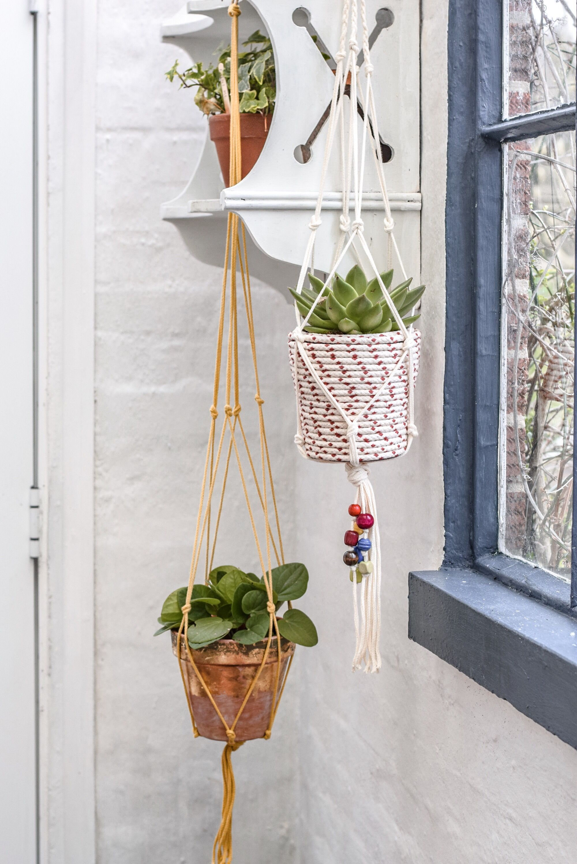How to make a simple macrame plant hanger with hobbycraft