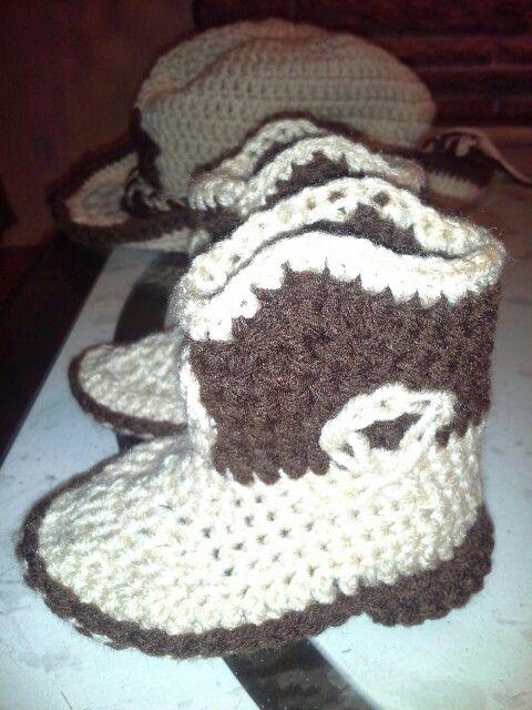 Botas Vaqueras En crochet. | baby | Pinterest | Botas vaqueras ...