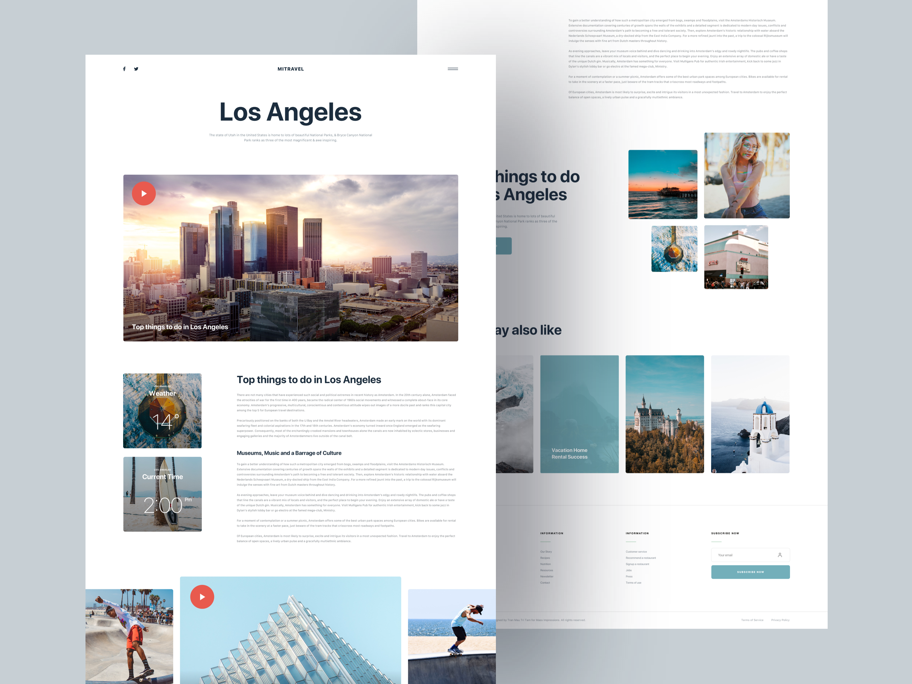 Mi Travel Blog Style 2 Free Download In 2020