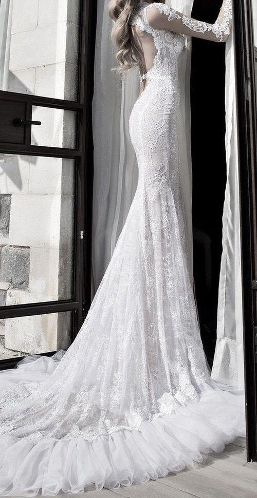Pinterest ⇝ ✧∘DarkFrozenOcean∘✧ #wedding #dress #ido #white #tumblr #dreamwedding #flowers #bride #longdress #rings #love #beautiful #whitedress #flowergirl