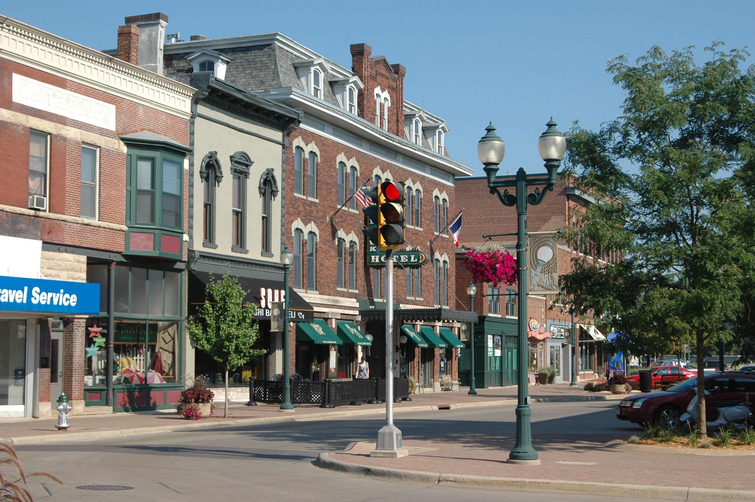 Downtown Cedar Falls Filled With Locally Owned Restaurants And