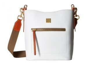 Dooney & Bourke Raleigh Roxy Bag (White/Natural Trim) Cross Body Handbags