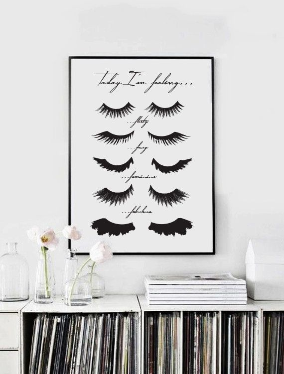 Minimalist Poster Quot Eye Lashes Quot Fashion Print Wall Decor