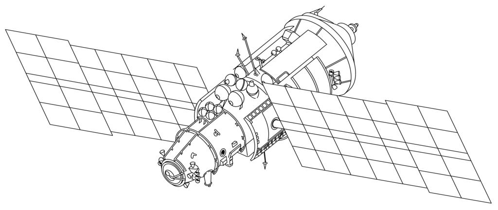 Kvant 2 module drawing - Mir (Raumstation) – Wikipedia