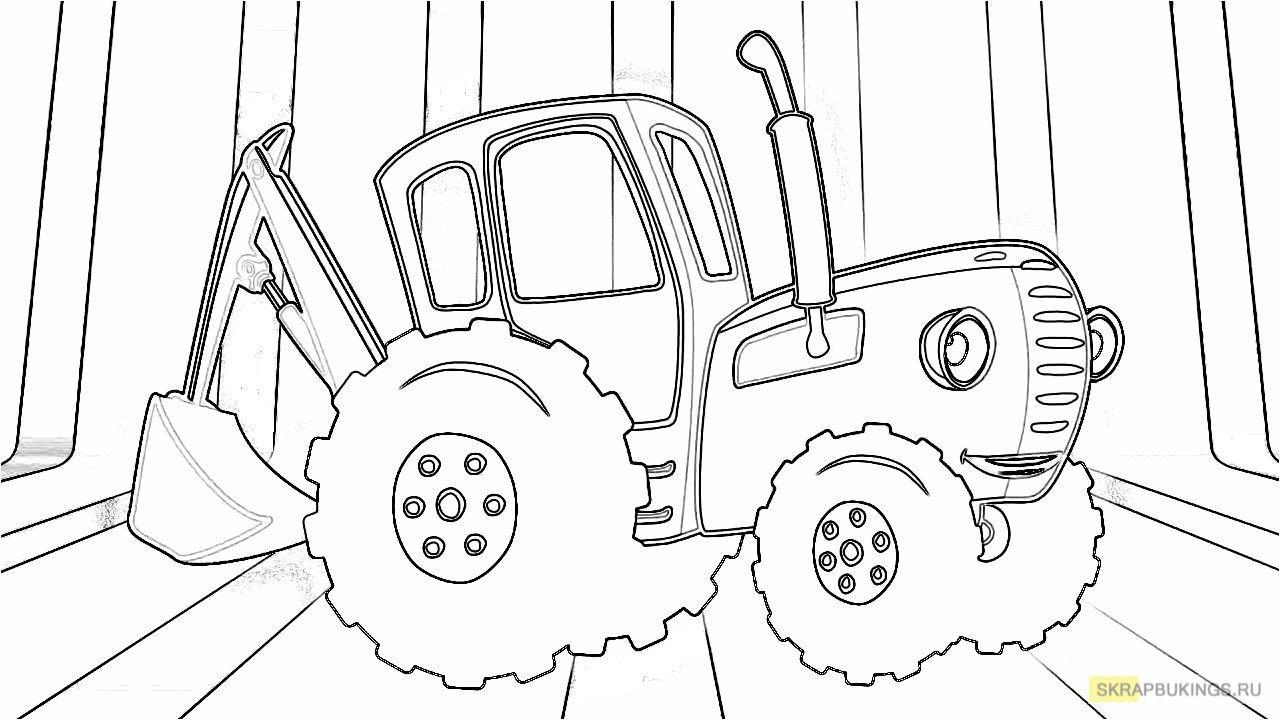 Синий трактор | Синий, Мультфильмы и Раскраски