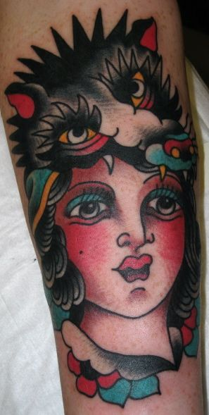 Girl With Wolf Head Tattoo Google Search Inkz Pinterest