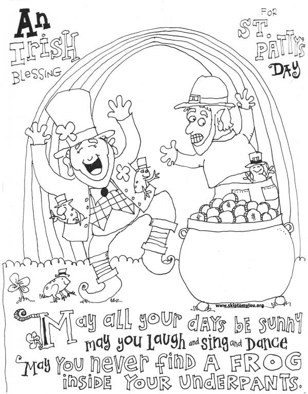 Cute St Patrick S Day Coloring Pages St Patrick
