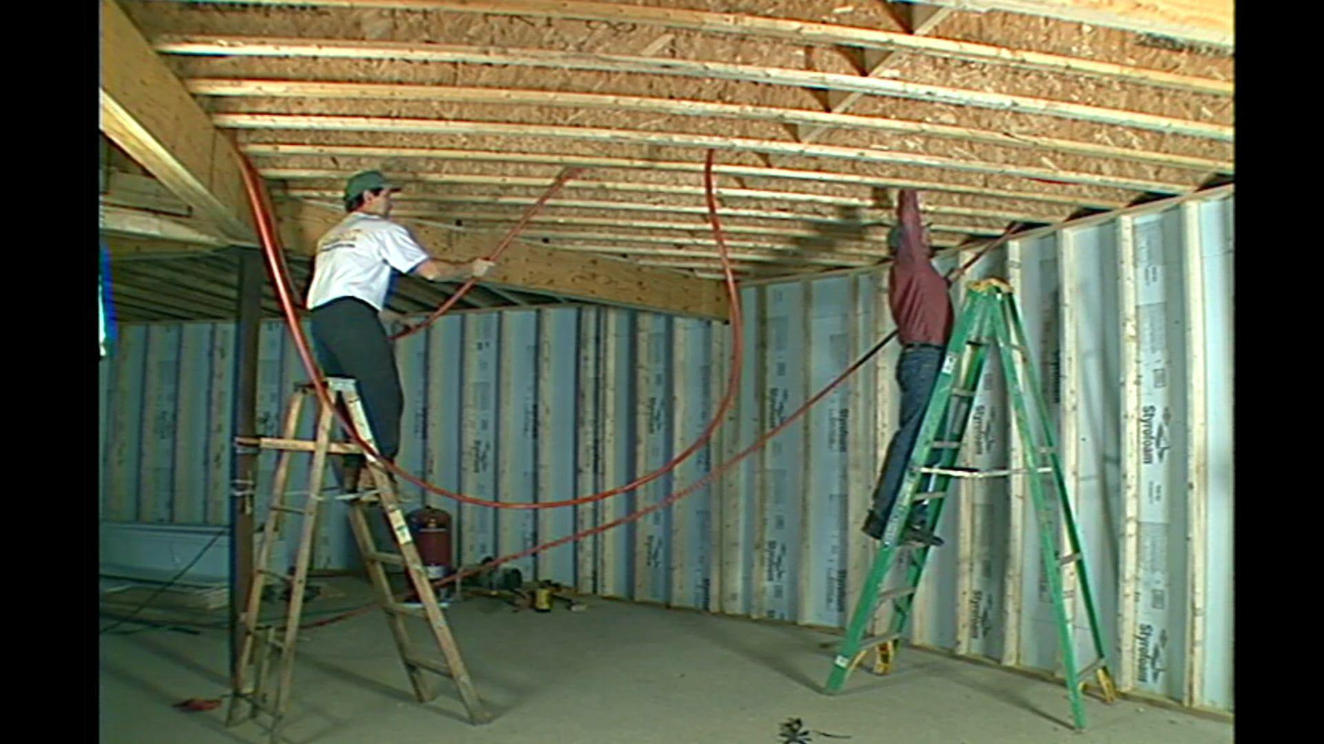 Floor Joist Pex Installation Hydronic Radiant Heating