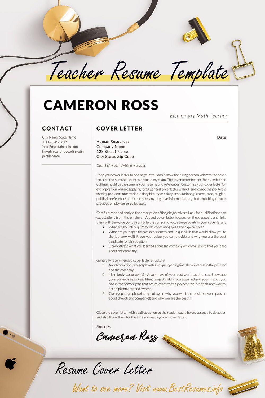 Teacher Resume Template Cameron Ross Bestresumes Info Teacher Resume Template Cover Letter For Resume Teacher Resume