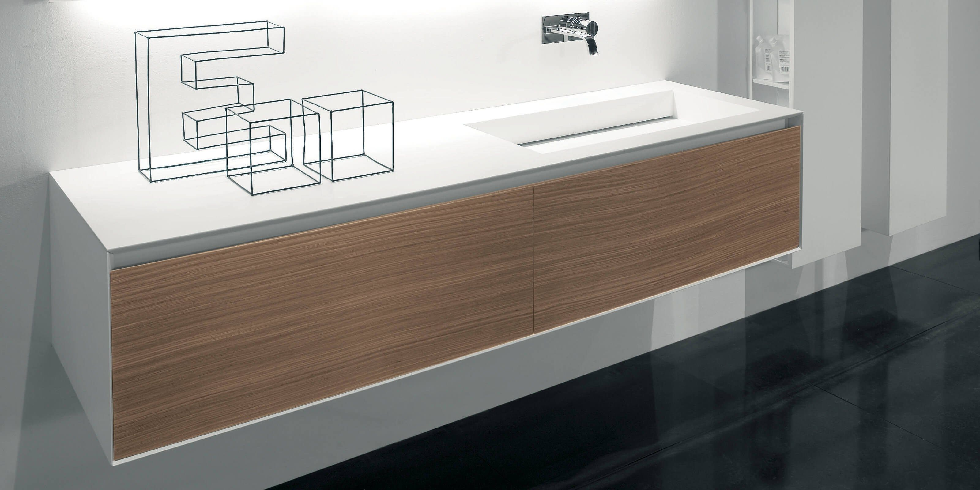 Piano Lavabo In Corian corian® washbasin countertop slot & myslot - antonio lupi
