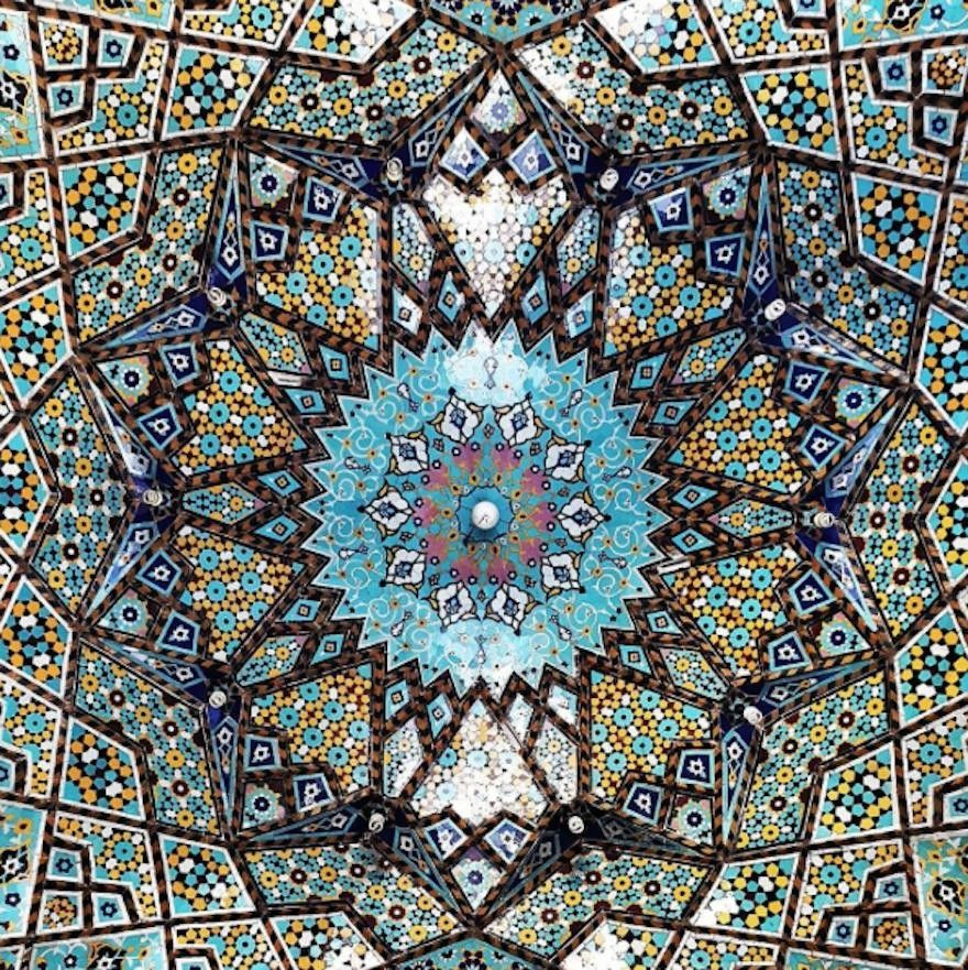Stunning Interior Details Of Iranian Mosque Ceilings Inspiration - The mesmerising architecture of iranian mosques