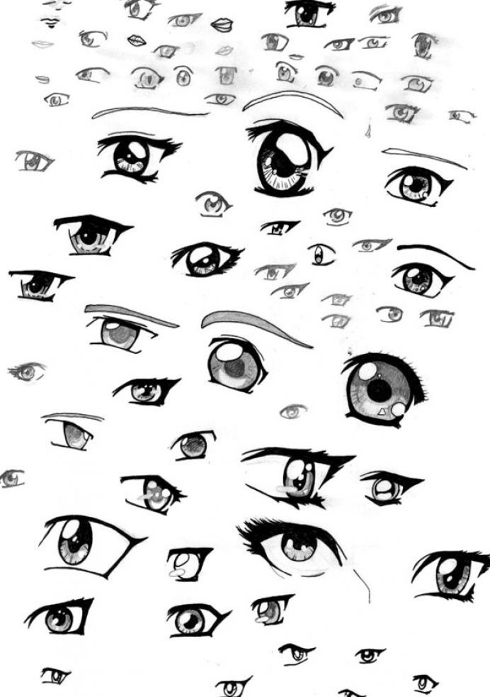It is a photo of Amazing Cute Anime Eyes Drawing