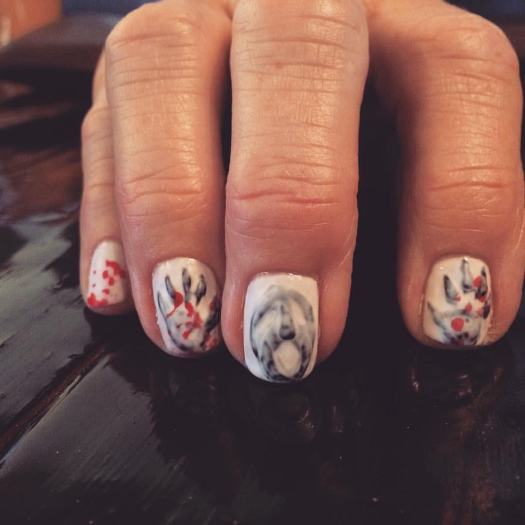 "ladychaps on Instagram: ""Freaky Halloween nail art!! #halloween ..."