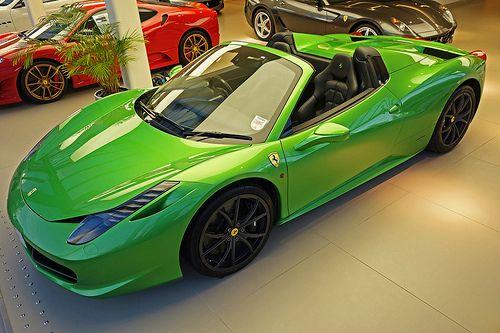 17 best images about ferrari 458 spider hy kers 2012 on pinterest - Ferrari 458 Spider Green