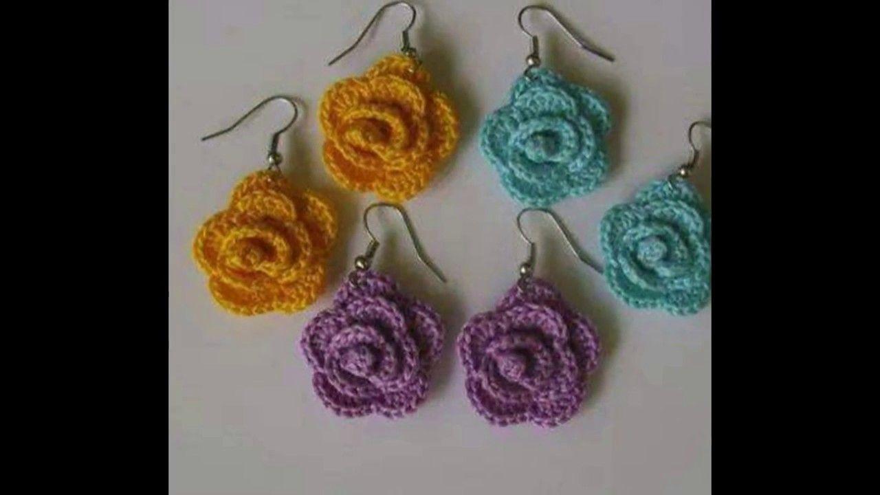 Zarcillos tejidos a crochet