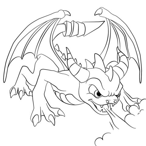 Click To See Printable Version Of Skylanders Dark Spyro Tegninger