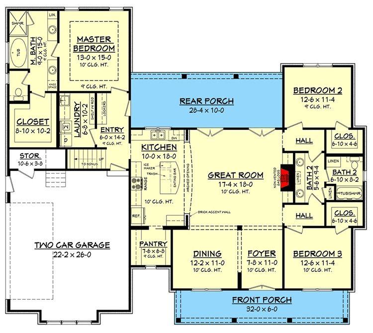 Budget Friendly Modern Farmhouse Plan With Bonus Room 51762hz 1st Floor Mas Planos De Casas Mediterraneas Planos De Casas Modernas Planos De Casas De Campo