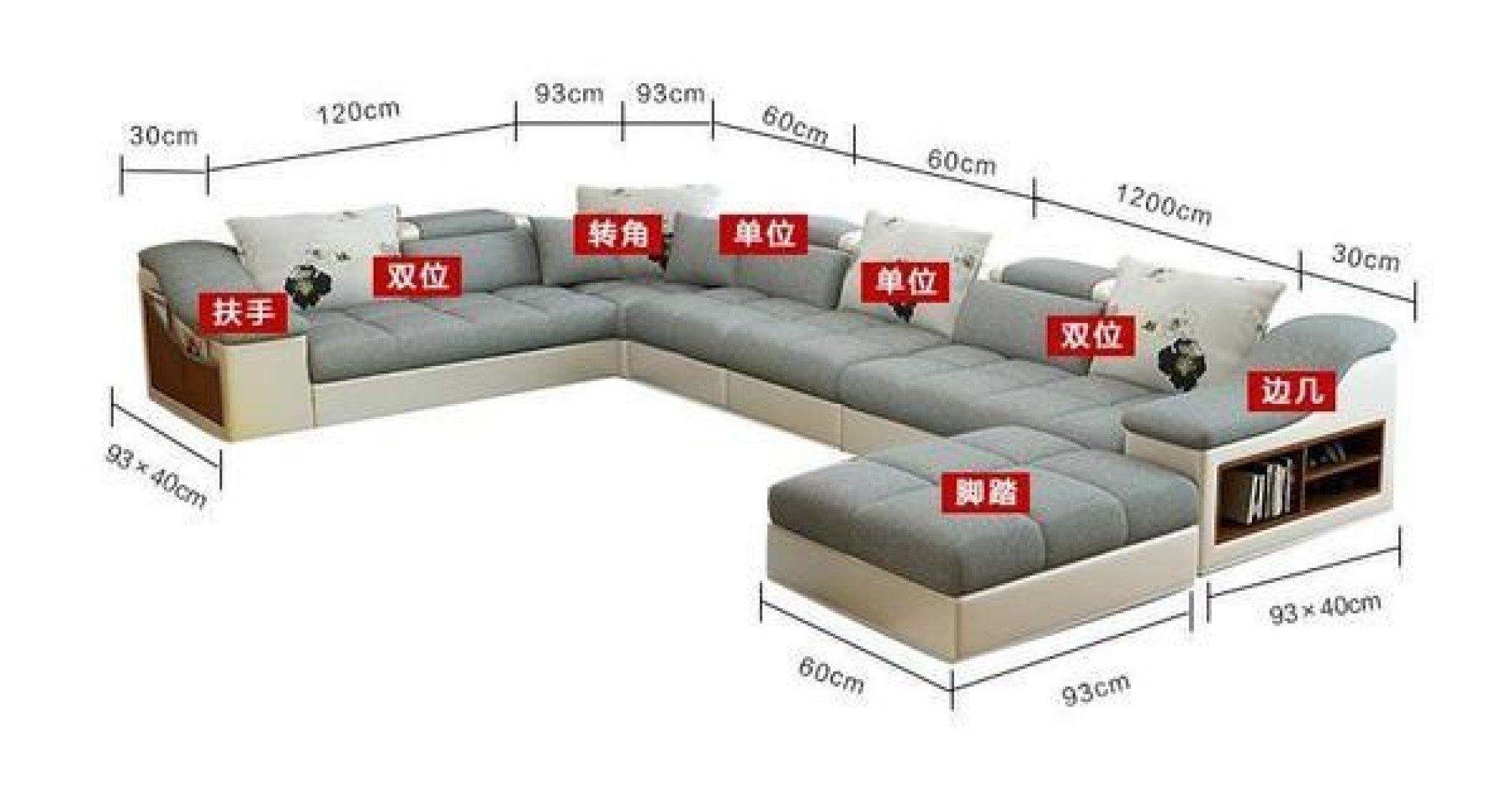 Luxury Modern U Shaped Leather Fabric Corner Sectional Sofa Set Design My Aashis U Shaped Sectional Sofa Corner Sectional Sofa Sofa Set Designs