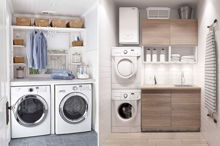 Trockner Und Waschmaschine übereinander waschküche mit waschmaschine trockner und viel stauraum
