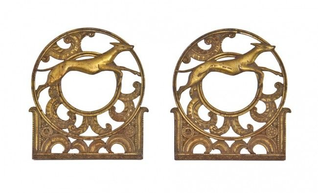 Two matching remarkable late 1920's american art deco style